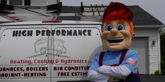 Happy Harold proudly presents High Performance Heating & Cooling Work Truck