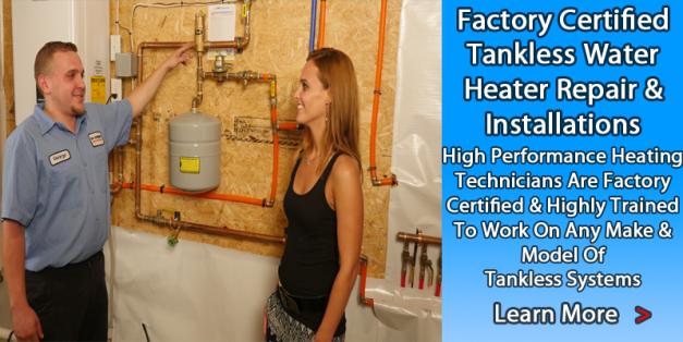Tankless Water Heater Repair Service - High Performance Heating- Happy Harold Crew